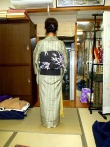 竹の染め帯